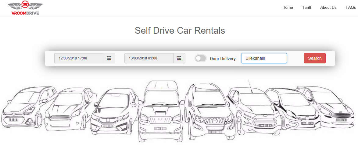 Self Drive Car rental - Home page