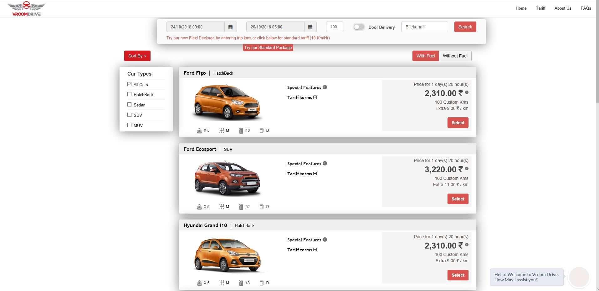 Pick a car price