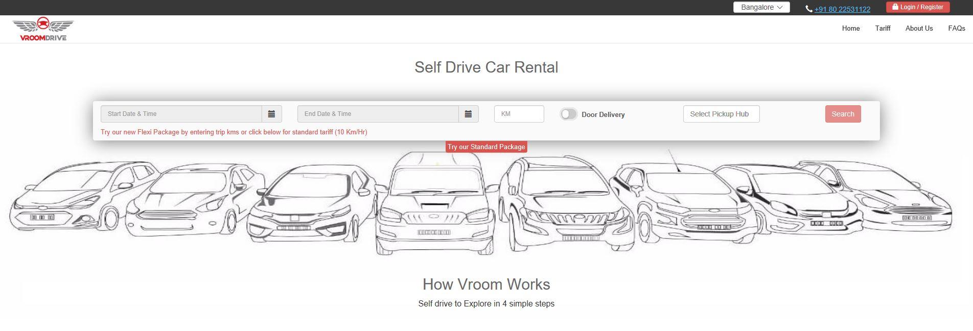 Self-drive car rentals